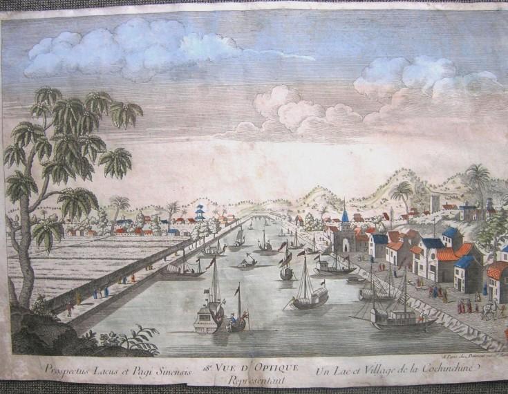 Prospectus Lacus et Pagi Sinensis. Un Lac et Village de la Cochinchine.