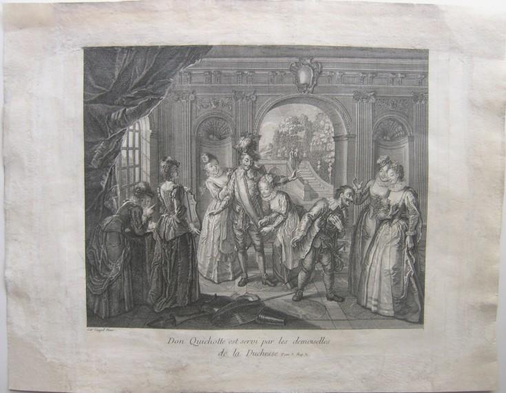 Don Quichotte es servido por las señoritas de la Duquesa (episodios de El Quijote)