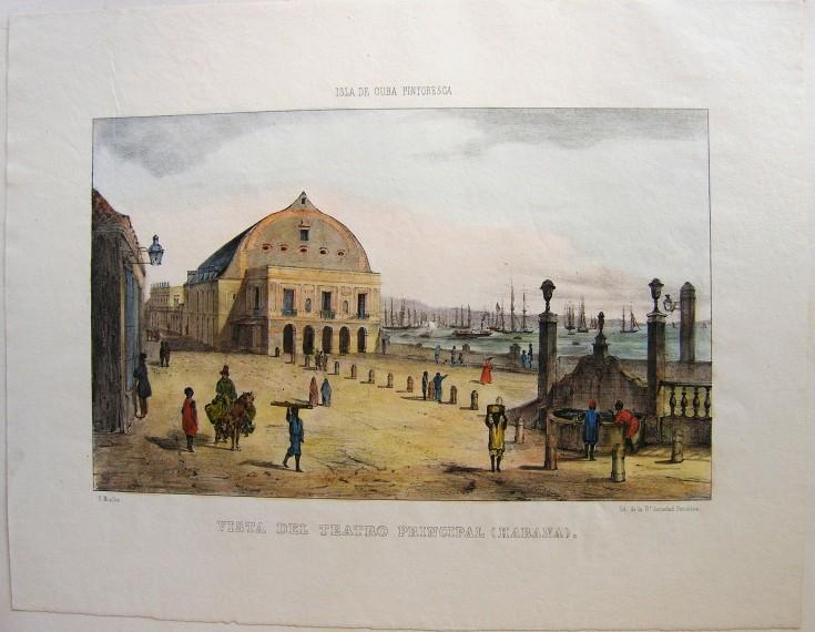 Vista del Teatro principal (Habana)