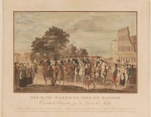 Día 26 de marzo de 1808. En Madrid. Entrada de Fernando 7º por la Puerta de Atocha