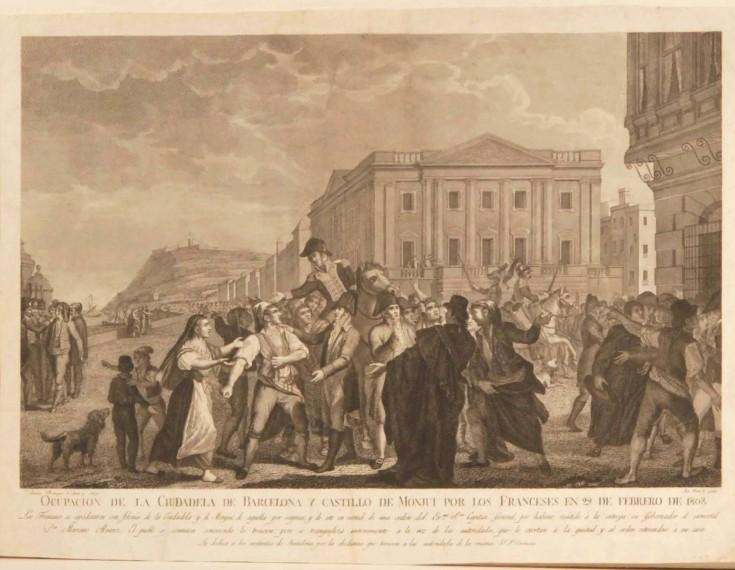 Ocupacion de la Ciudadela de Barcelona y Castillo de Monjui por los Franceses en 29 de Febrero de 1808