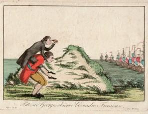 Pitt sur Georges observe l'Escadre Française