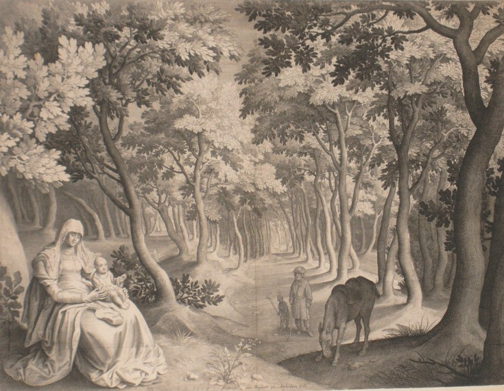 The Holy Family with Saint Johan Baptist in a landscape