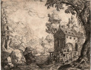 Mill with figures