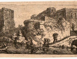 Landscape with boats and figures