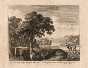 Landscape with a couple of figures