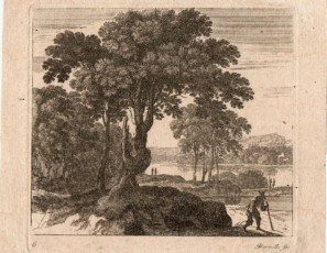 Landscape with tree and a figure