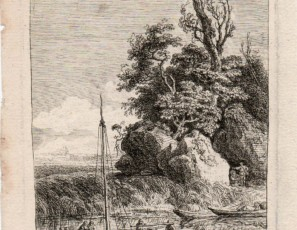 Landscape with boat and figures