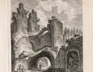 Ruins landscape with figures