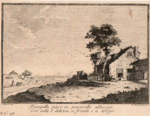 Landscape with house and tree