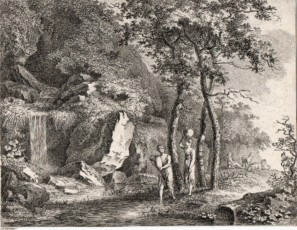 Landscape with mitological figures