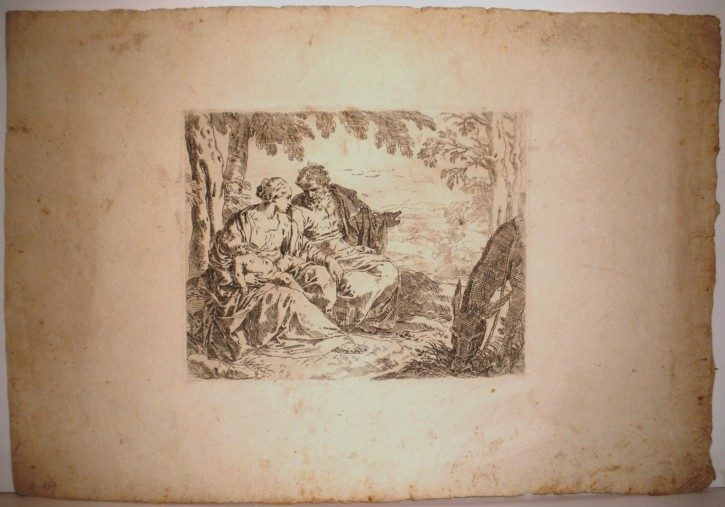 Mary, Joseph and the Child during the Flight to Egypt