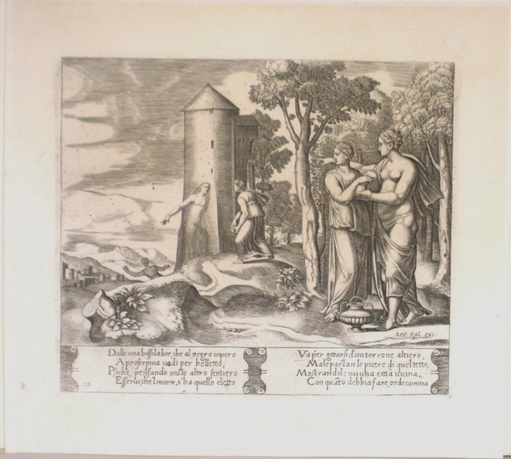 Fábulas de Psique. Daddi, Bernardo - Coxcie I, Michel - Salamanca, Antonio. Mediados siglo XVI. Edición siglo XVIII. Precio: 250 (1)€