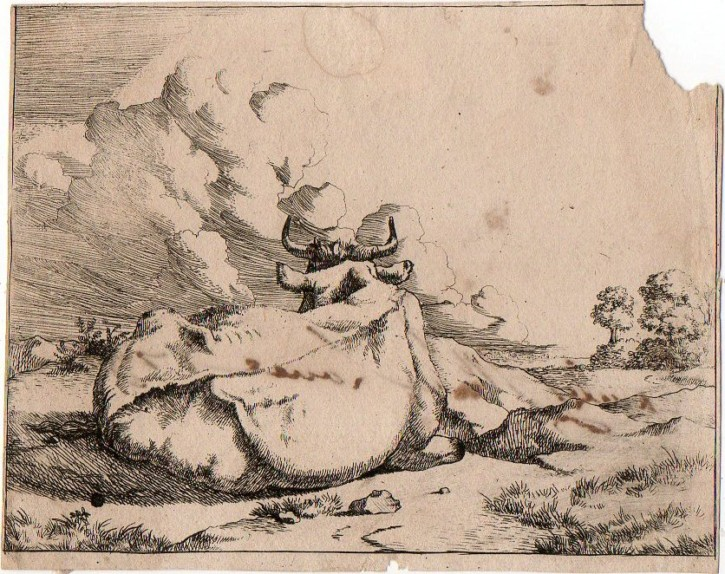 Sheeps and cattles (De Bye, Marcus - Visscher, Nicolaas) - 1664 - [Animals, Holland, XVII, Etching and burin, Laid paper]