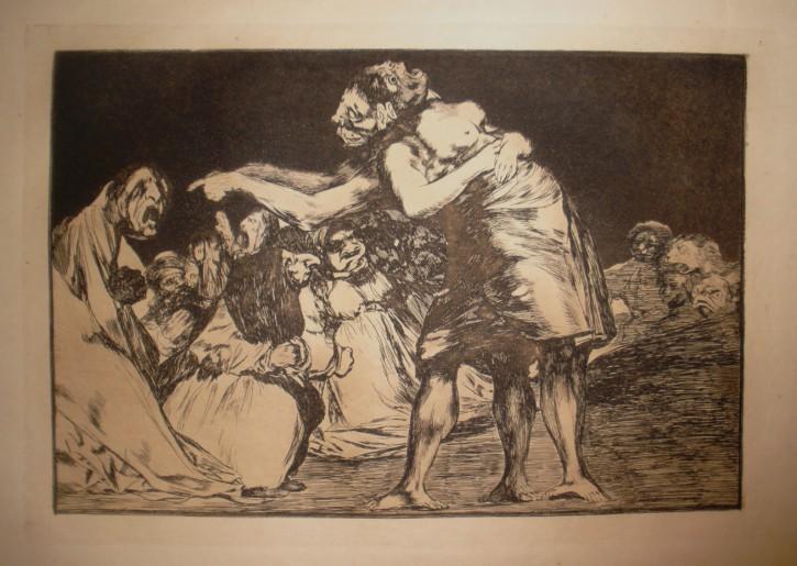 Disparate matrimonial (Goya Lucientes, Francisco de - Calcografía Nacional) - 1815-1819. 9ª edición, 1937 - [Sátira, Crítica y Caricatura, España, XIX, Aguafuerte y aguatinta, Papel Japón Imperial]
