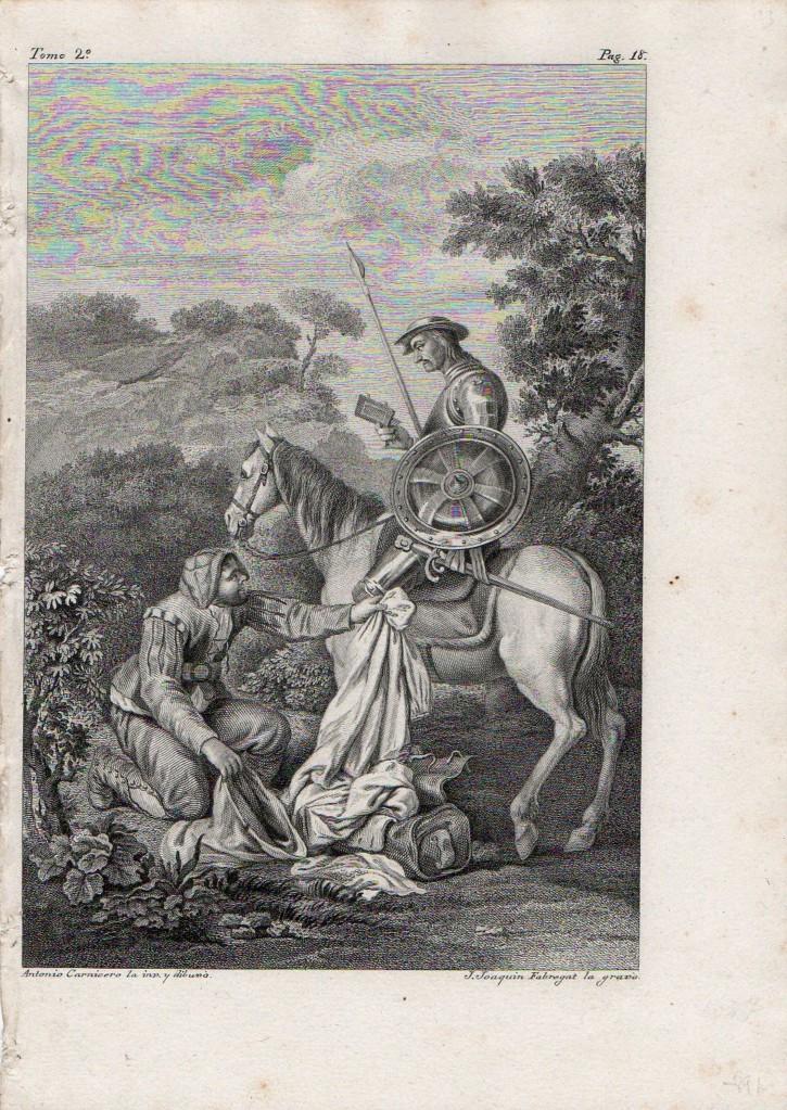 Escena del Ingenioso Hidalgo D. Quixote de la Mancha (Ibarra, Joaquín) - Circa 1778 - [Otros, España, XVIII, Buril, Papel verjurado]