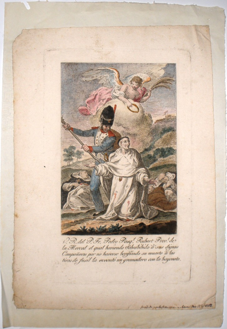 Killing in Murviedro (Anónimo) - 1812 - [Modern History, Spain, XIX, Colored etching, Laid paper]