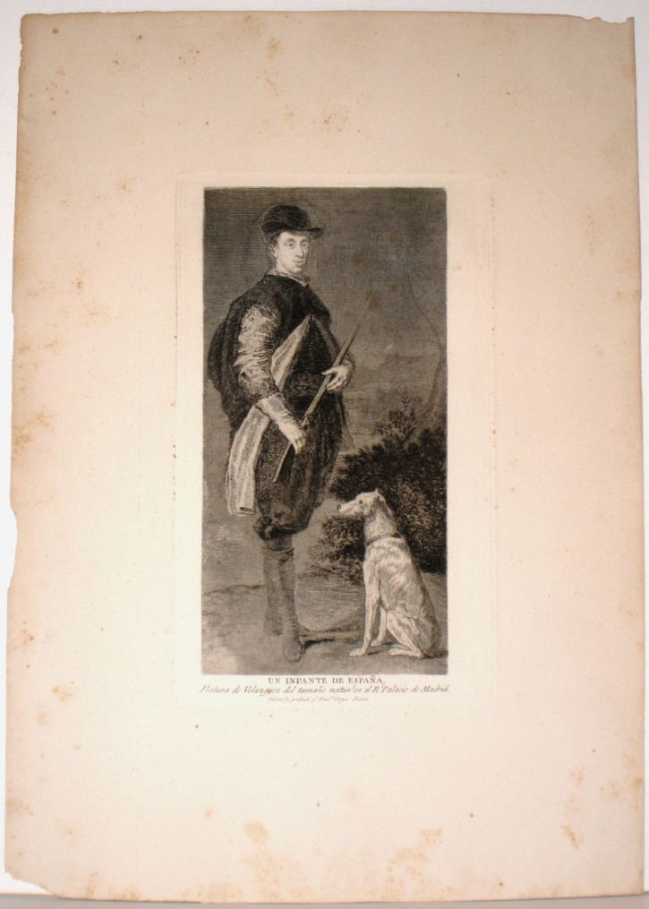 Un infante de España (Goya Lucientes, Francisco de - Velázquez, Diego - Calcografía Nacional) - 1778. Third edition, 1868 - [Portrait, Spain, XVIII, Etching, aquatint and dry point, Wove paper]