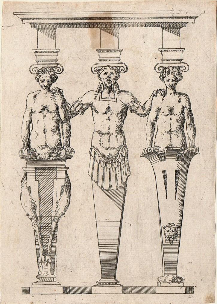 Atlantes y cariátides. De Cerceau, Jacques Androuet. . Precio: 250 (1)€