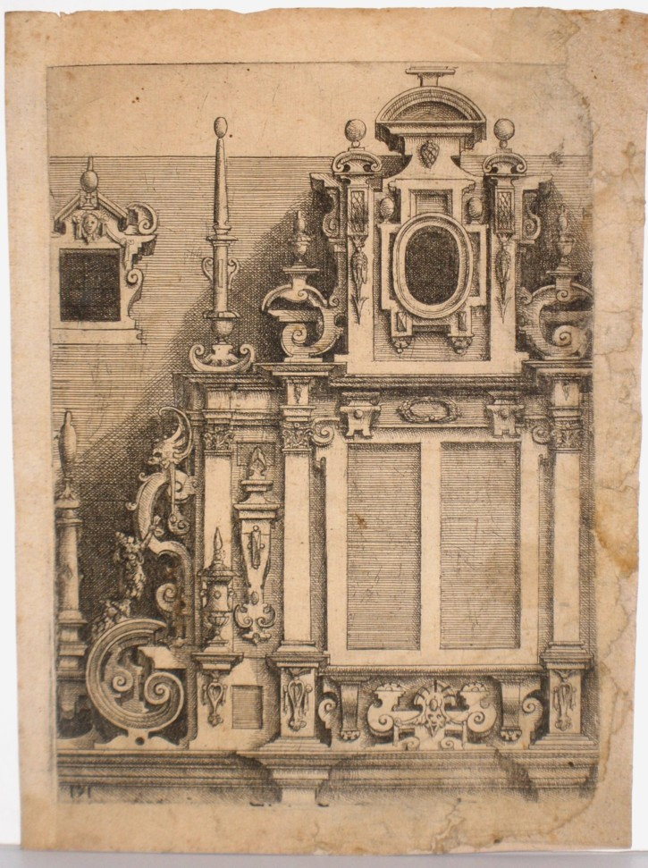 Architecture grotesque (Dietterlin, Wendel) - 1598. Edición siglo XVIII - [Architecture, Germany, XVI, Etching and burin, Glued laid paper]