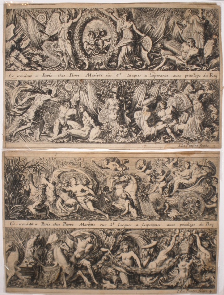Lot of 6 prints with grotesque motifs