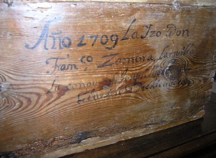 Arqueta eucarística () - 1709 - [España, XVIII, Madera]
