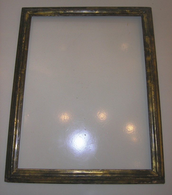 Golden and silvered frame