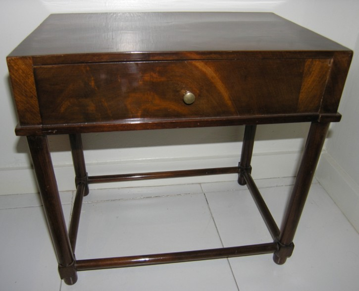 Small mahogany table used for sewing