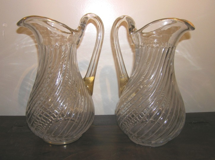 Pair of glass vases () -  - [England, XIX, Glass]