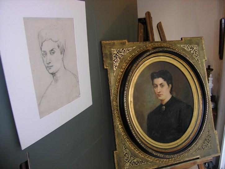 Retrato de Carlota Aguiló, mujer de Ramón Martí Alsina (Martí Alsina, Ramón) - Circa 1870 - [Retrato, Cataluña, XIX, Óleo, Lienzo, Original]