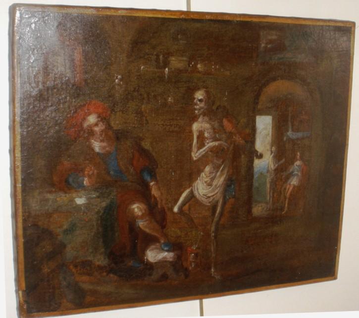 Danza de la muerte (Anónimo) -  - [Mitología y alegoría, Flandes, XVII, Óleo, Lienzo, Sin marco]