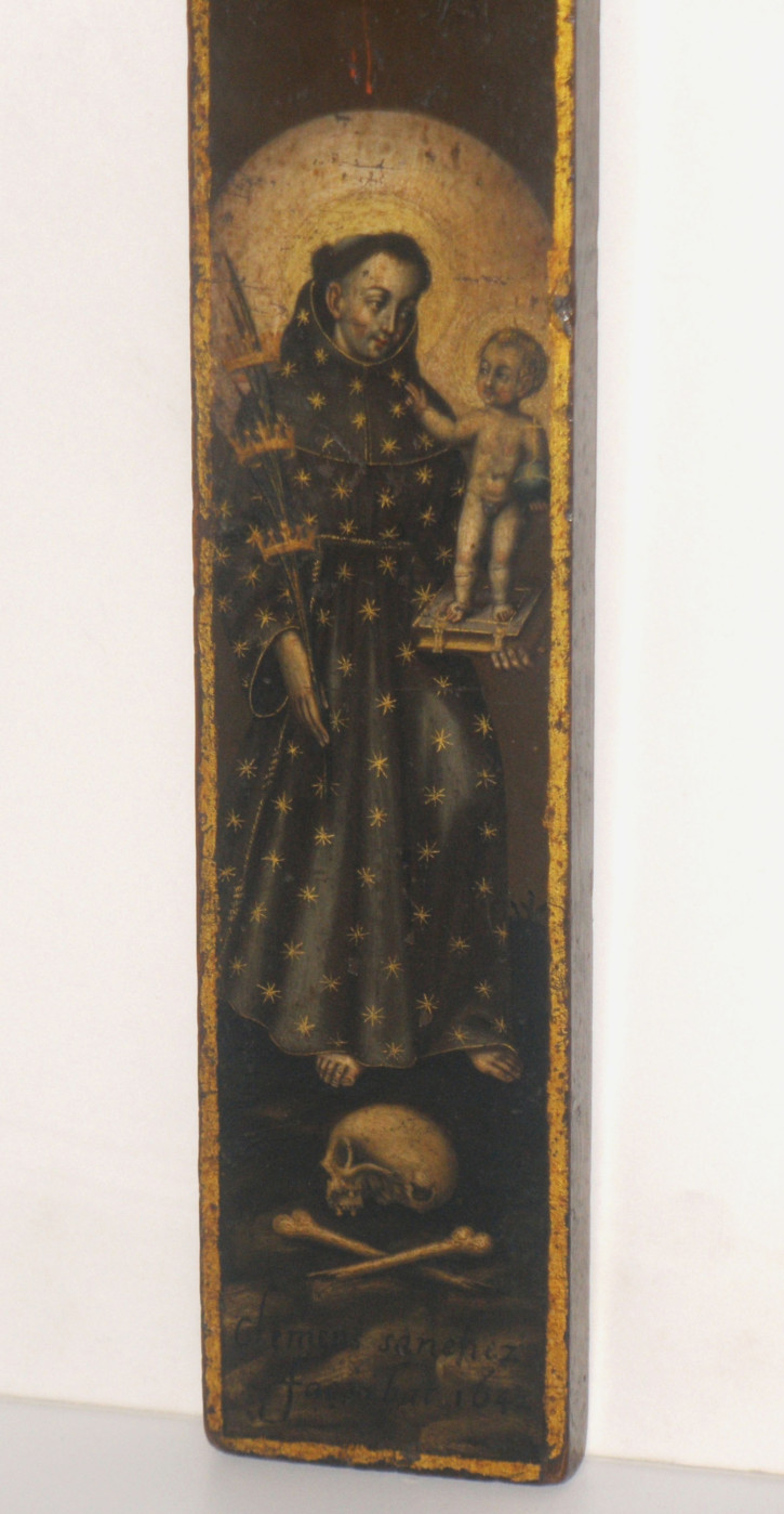 Crucifixion of Christ with Saint Anthon of Padua (Sánchez, Clemente) - 1642 - [Religion, Spain, XVII, Oil, Wood, Without frame]