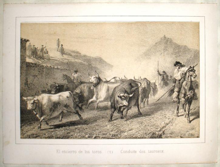 España. Corrida de toros. Vallejo y Galeazo, José - Bautista Stampa, Juan y Lemercier. 1840-1850