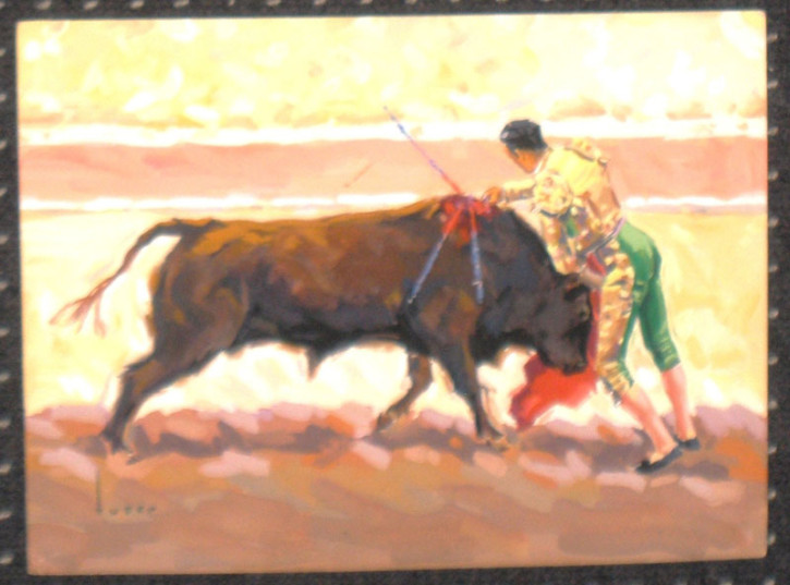 Tres escenas taurinas (Tuser Vázquez, José María) - Mediados siglo XX - [Fiesta y Ocio, Cataluña, XX, Acuarela y lápiz, Papel vitela]