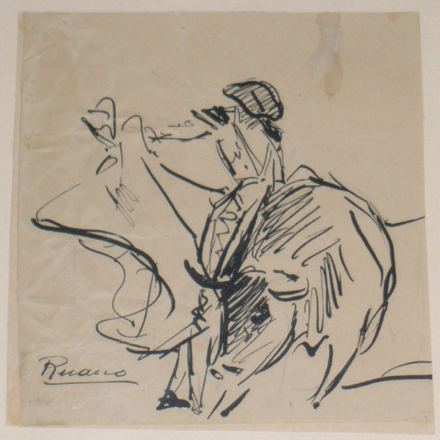Bullfighting scene (Ruano Llopis, Carlos) -  - [Play time and Fiesta, Spain, XX, Plume, Wove paper]