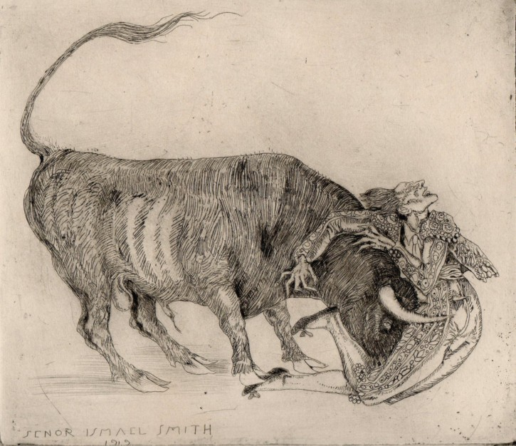 Gored (Smith, Ismael) - 1919 - [Play time and Fiesta, United States, XX, Etching, Wove paper]