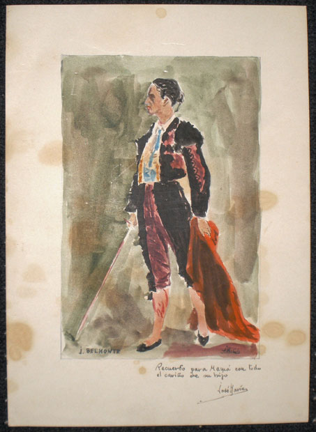 Portrait of the bullfighter Juan Belmonte () - 1913-1936 - [Play time and Fiesta, Spain, XX, Pencil and gouache, Wove paper]