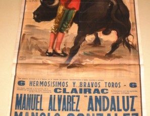Two original posters from Plaza de Toros Monumental dee Barcelona, 1950