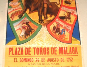 Original poster from bullfighting Mexico, 1952