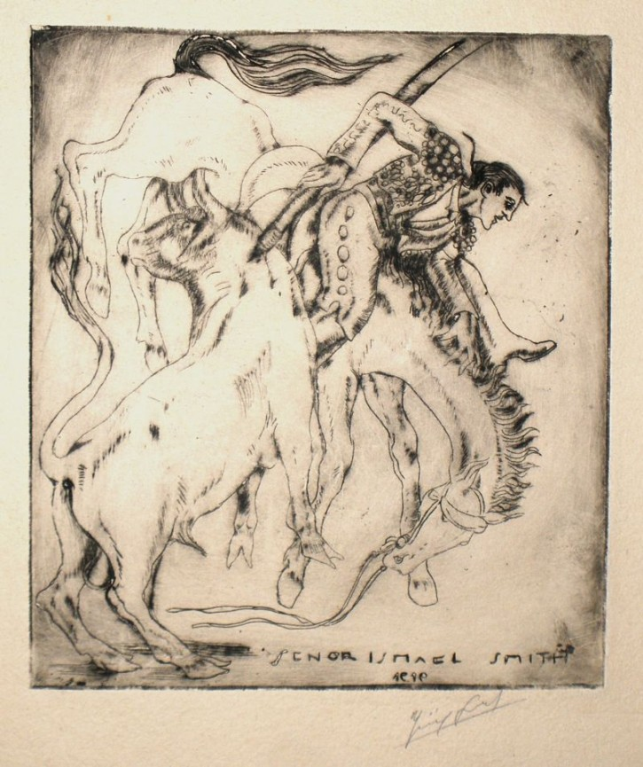 Hormigón [Concrete] (Smith, Ismael) - 1919 - [Play time and Fiesta, United States, XX, Etching, Wove paper]