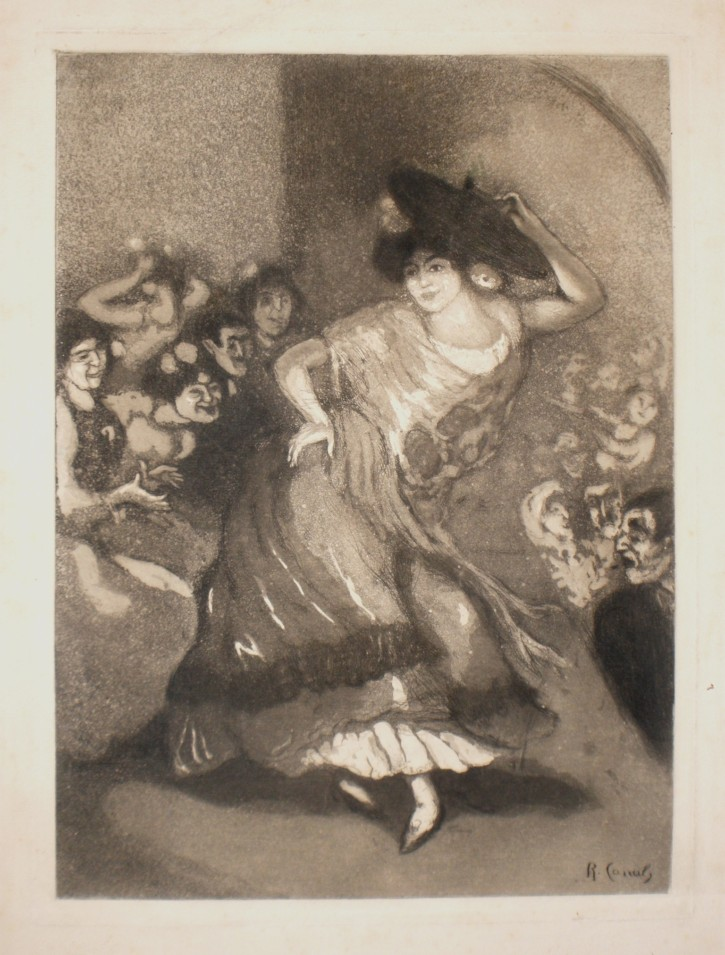 Bailaora (Canals, Ricard - Sagot) - Ca. 1905 - [Play time and Fiesta, Catalonia, XX, Etching and aquatint, Laid paper Arches]