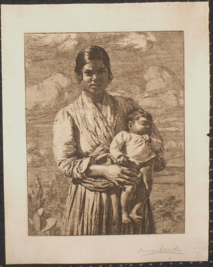 Gipsy with a child
