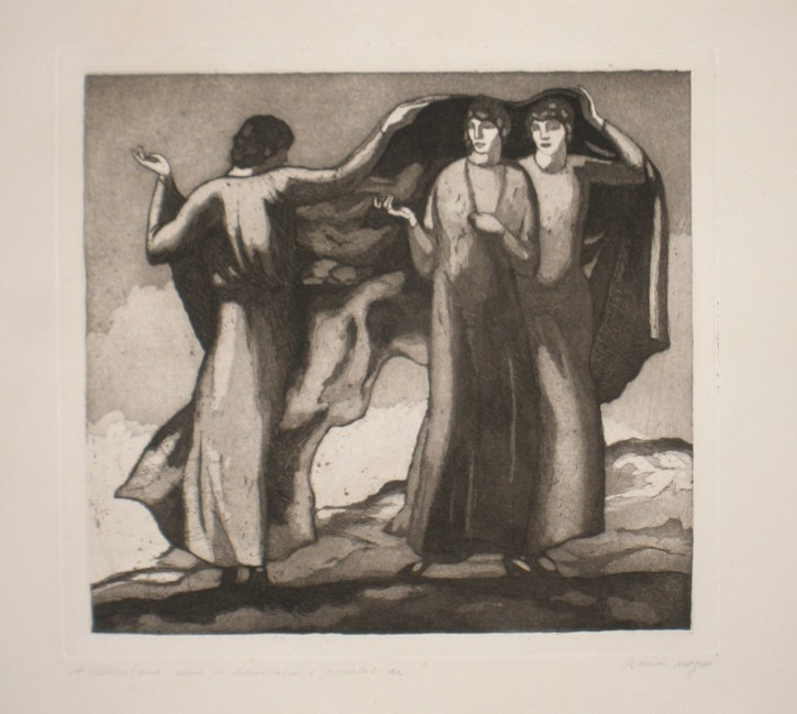 Three Graces (Nogués i Casas, Xavier) - 1912 - [Mithology and allegory, Catalonia, XX, Etching and aquatint, Wove paper]