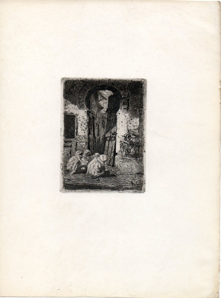 Tanger (Fortuny Marsal, Marià - Durand, A.) - 1861 - [Views and landscapes, Catalonia, XIX, Etching, Watermark wove paper]