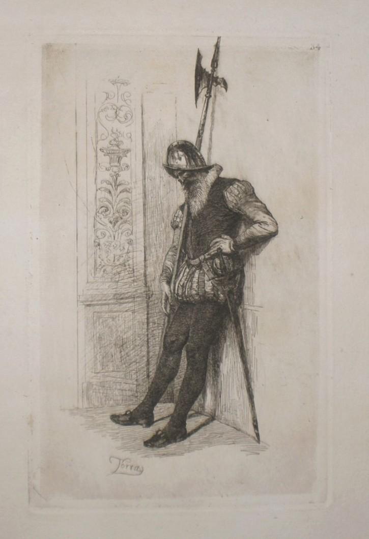 Guardia interior (Torras Armengol, Francesc) - 1875 - [Retrato, Cataluña, XIX, Aguafuerte, Papel vitela, Últimas adquisiciones]