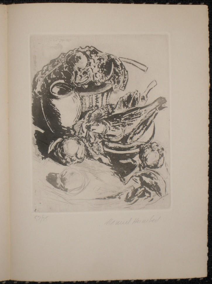 Mesa de cocina (Humbert i Esteve, Manuel) - 1957 - [Otros, Cataluña, XX, Aguafuerte y aguatinta, Papel vitela, Últimas adquisiciones]