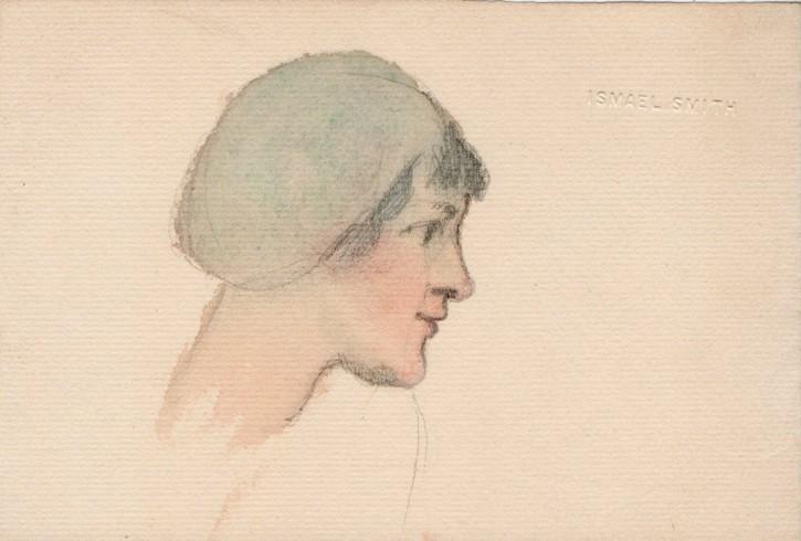 Tres cabezas de mujer (Smith, Ismael) - 1911 - [Retrato, Cataluña, XX, Acuarela y lápiz, Papel verjurado, Últimas adquisiciones]