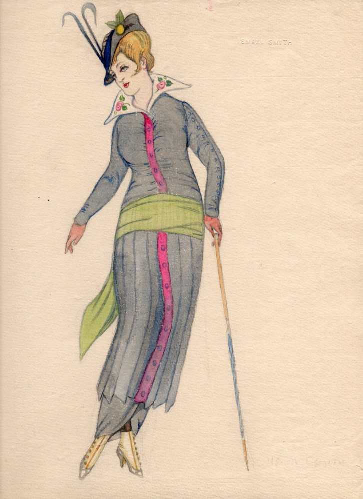 Fashion woman with hat and a stick
