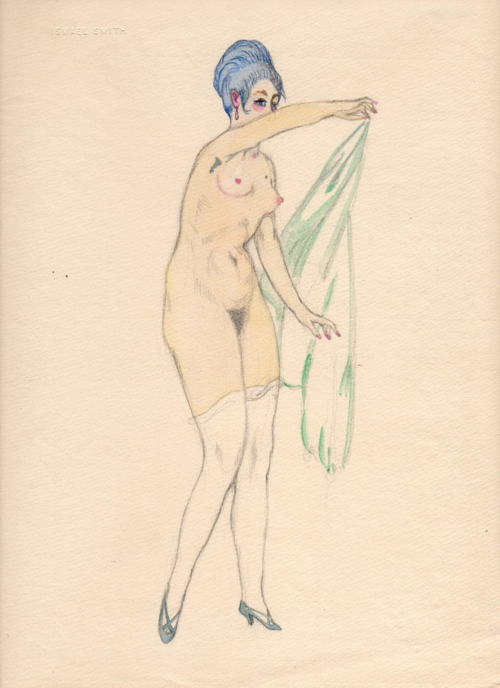 Naked woman with veil