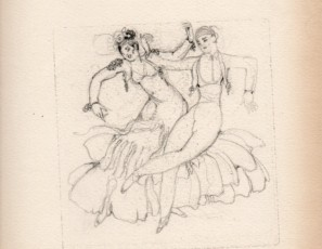 "Sketch for the print ""Sevillanas"""